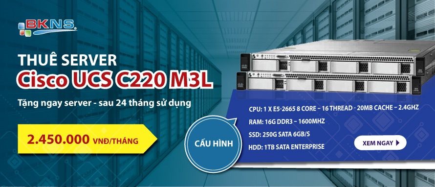 Thuê server Cisco UCS C220 M3 – Tặng Server