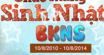 Khuyến mại mừng sinh nhật BKNS tròn 4 tuổi