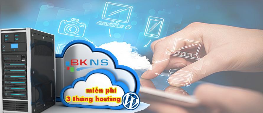 Tặng 3 tháng hosting wordpress