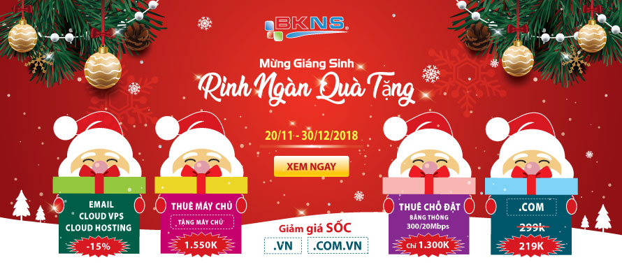 Khuyến mãi mừng giáng sinh 2018