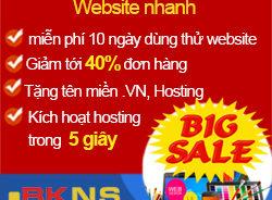 BKWeb.VN – Khuyến Mại Thiết kế Web Nhanh Siêu Tốc