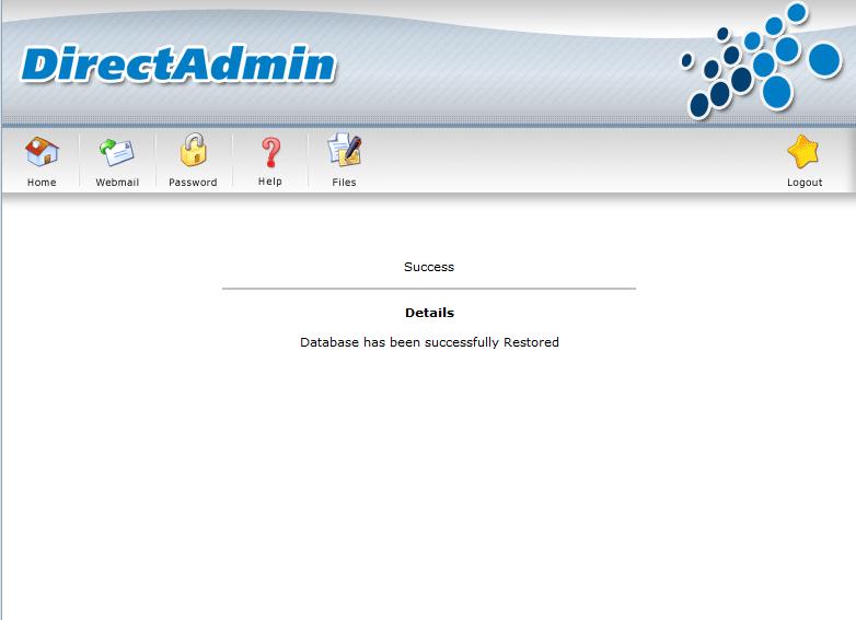 Thông báo đăng ký Database thành công