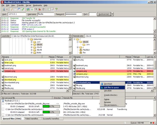 Phần mềm FTP FileZilla Client