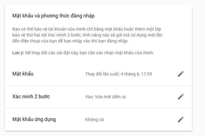 Vào lại phần Sign in to Google như ở trên và chọn Mật khẩu ứng dụng.