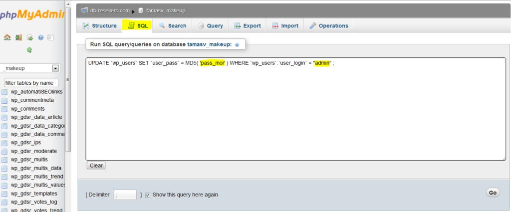 Trên màn hình xuất hiện 1 text box để bản nhập câu lệnh SQL