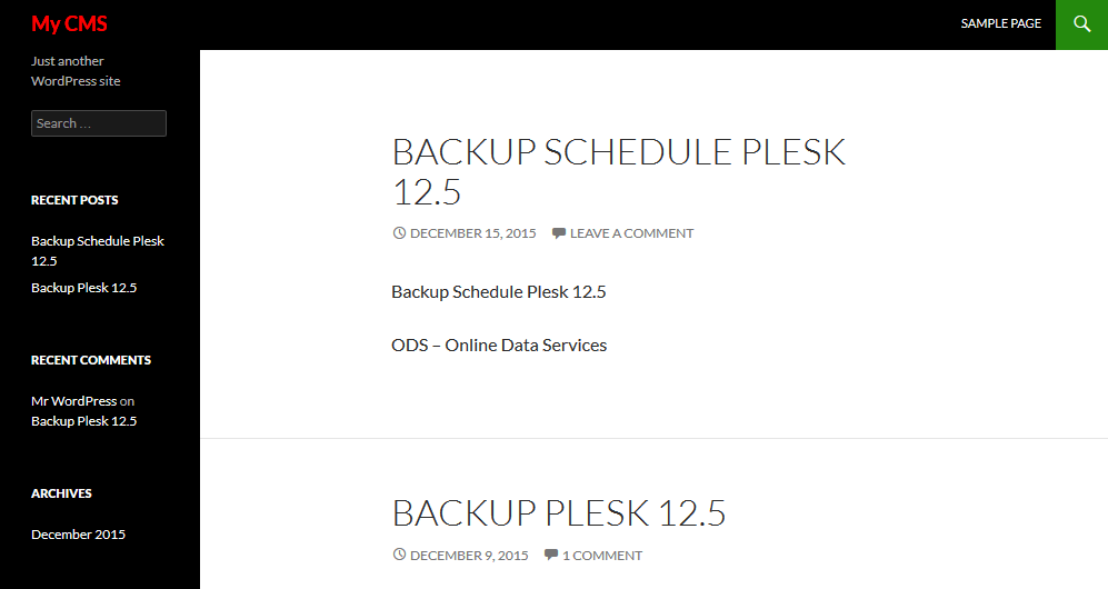 Hệ thống sẽ tự động backup khi đến thời gian ta đã set.