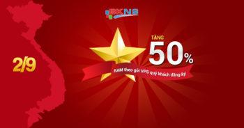 Khuyến mãi mừng Quốc Khánh nước CHXHCN Việt Nam 02/09/2016