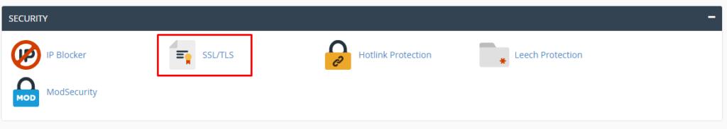 Chọn mục SSL/TLS
