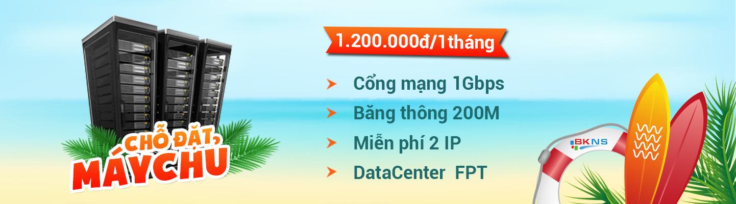 Khuyến mãi chỗ đặt máy chủ giá chỉ 1.200.000đ/tháng
