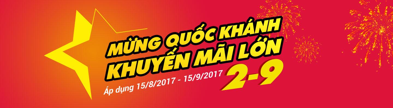 Khuyến mãi mừng Quốc Khánh 2017