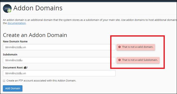 Những vấn đề khi thêm tên miền tiếng việt vào hosting