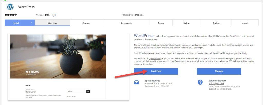 Bạn click vào Install Nowvà nhập các thông tin để hoàn thành cài đặt như như trong ảnh