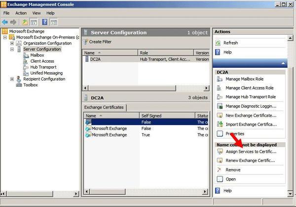 hướng dẫn cài đặt SSL cho Exchange 2010 5