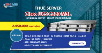Thuê server Cisco UCS C220 M3L – Tặng Server
