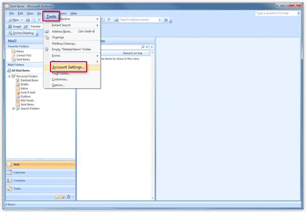 Đăng ký Email trên Microsoft Outlook