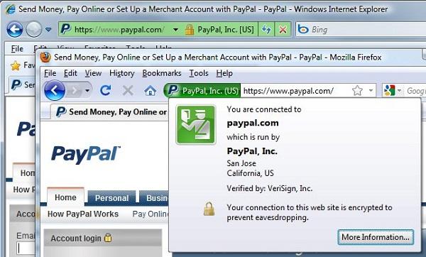 Biểu tượng khóa hoặc thanh màu xanh lá cây trên trình web cung cấp cho người dùng tín hiệu về việc kết nối của mình có sự tin cậy