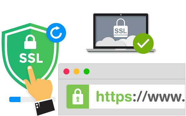 Các thuật toán mã hóa và xác thực của SSL như DES, DSA, KEA, MD5,...