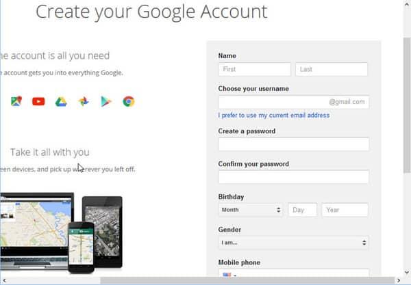Hướng dẫn đăng ký email trên gmail