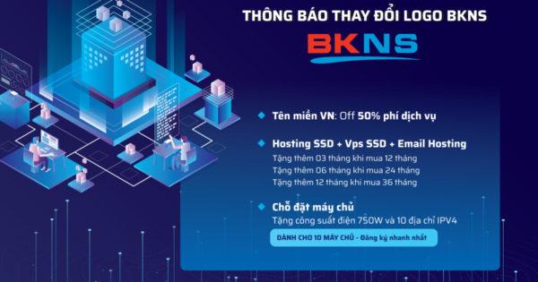 Thông báo thay đổi Logo BKNS