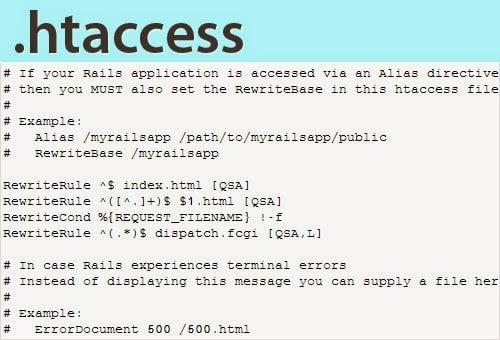 File .htaccess trên máy chủ bị lỗi gây ra lỗi HTTP Error 500