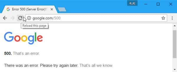 HTTP Error 500 là lỗi gì
