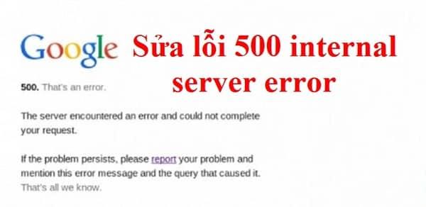 Quá nhiều người truy cập gây ra lỗi HTTP Error 500