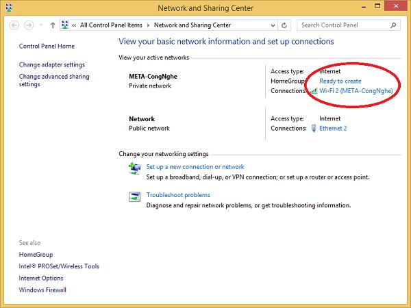 Tìm địa chỉ IP riêng qua Control Panel