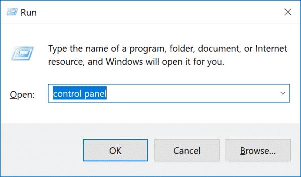 Vào Control Panel để vô hiệu hóa VPN và Antivirus