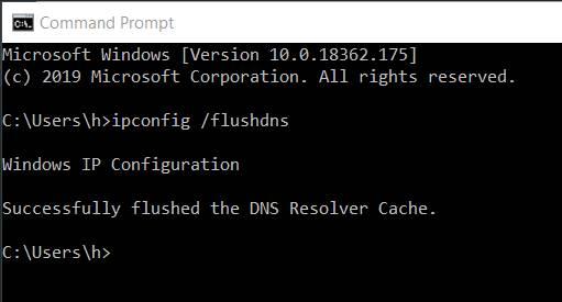Xóa Flushing Cache để khắc phục lỗi DNS_Probe_Finished_Nxdomain