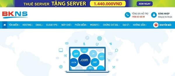BKNS nằm trong Top 10 nhà cung cấp Hosting có lượng người dùng nhiều nhất tại Việt Nam