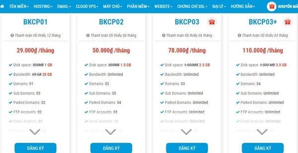Hướng dẫn mua hosting nhanh, đơn giản