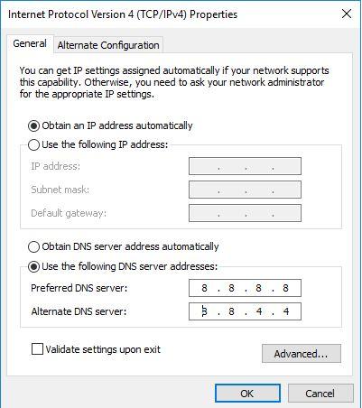 Cách đổi DNS trên Windows 10 3