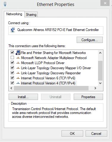 Cách đổi DNS vào facebook trên windows 8,10 4