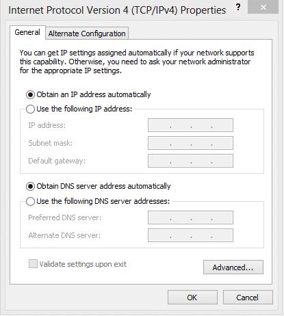 Cách đổi DNS vào facebook trên windows 8,10 5