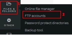 Đăng nhập Filezilla bằng tài khoản thường