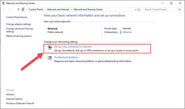 Fake địa chỉ IP trên Windows 10