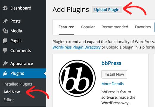 Cài đặt Plugin bằng bảng điều khiển