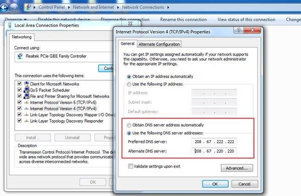 Hướng dẫn đổi DNS Win 7 4