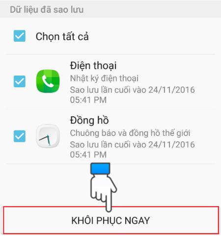 Hướng dẫn sử dụng Samsung Cloud để khôi phục dữ liệu 1
