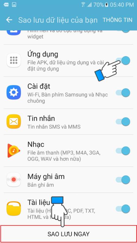 Hướng dẫn sử dụng Samsung Cloud để sao lưu dữ liệu 5