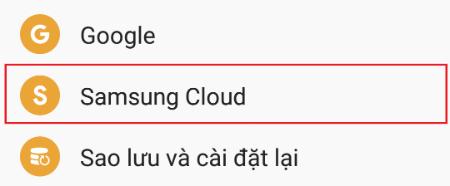 Hướng dẫn sử dụng Samsung Cloud để sao lưu dữ liệu