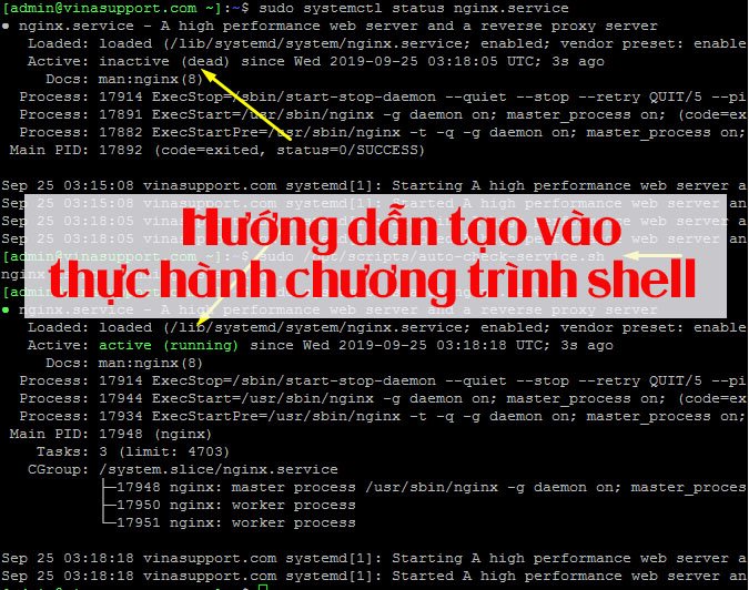 Hướng dẫn tạo vào thực hành chương trình shell
