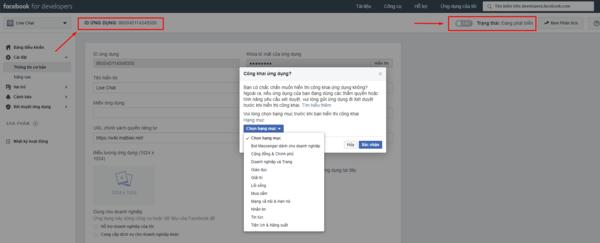 Hướng dẫ tạo live chat facebook cho website