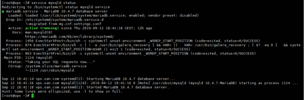 MySQL hoạt động bình thường