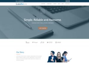Liotrix One Lite giúp người dùng tạo nên một website chuyên nghiệp, gây ấn tượng với khách hàng ngay từ cái nhìn đầu tiên