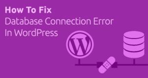 Lỗi Error establishing a database connection
