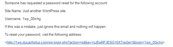 Lưu ý khi đăng nhập wordpress 3