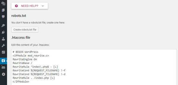 Sử dụng Yoast SEO để tạo file robot.txt 1