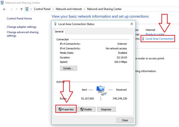 Cách đổi DNS Server trên máy tính sử dụng hệ điều hành Windows 1