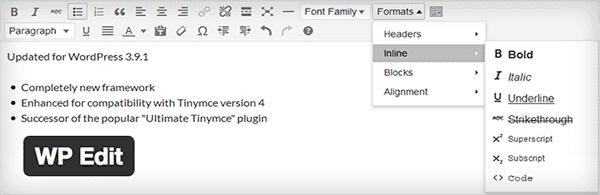 WP Edit giúp người dùng kiểm soát quá trình soạn thảo trong wordpress